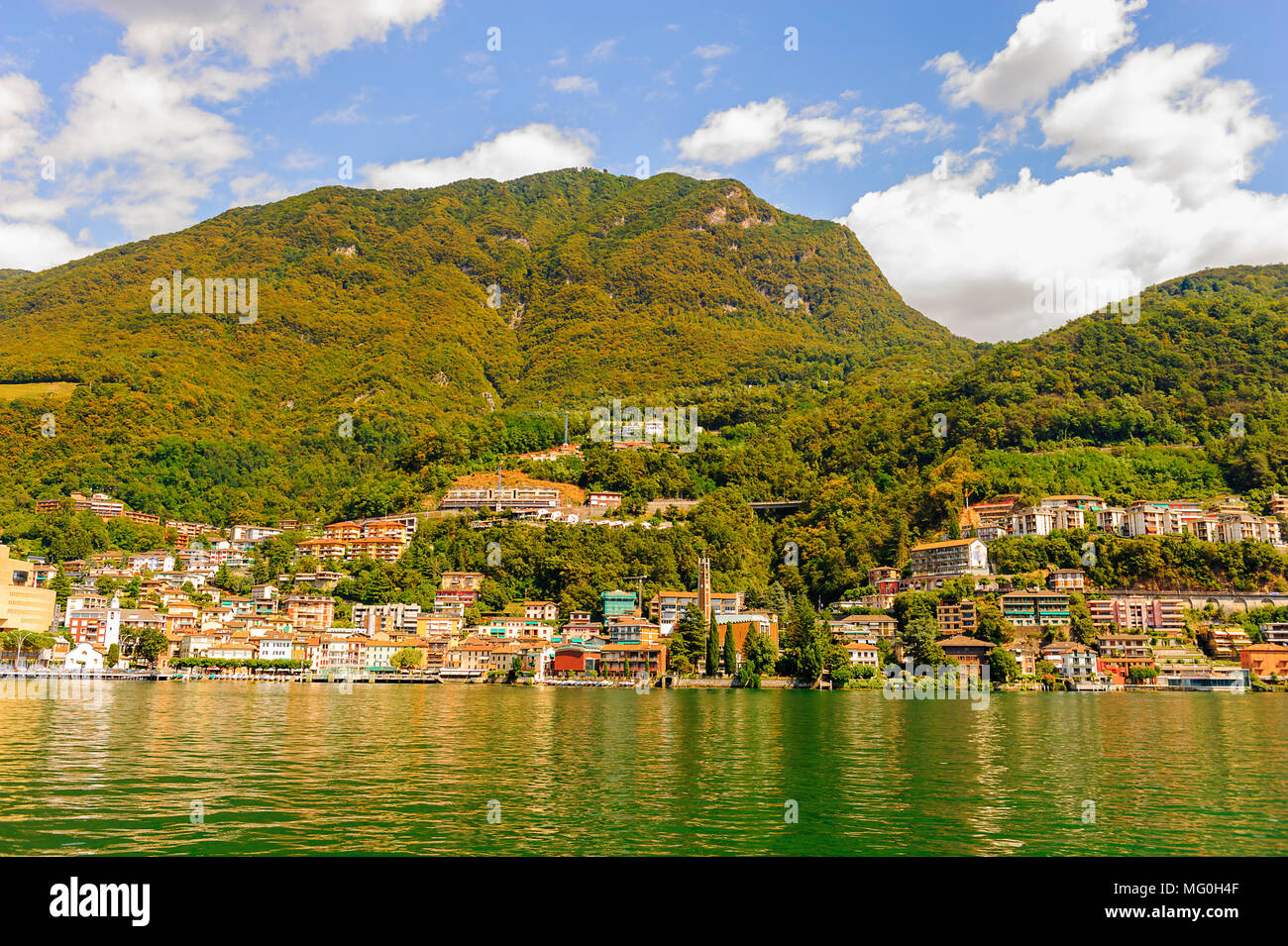 Mountain of the lake of Lugano, Switzerland Stock Photo