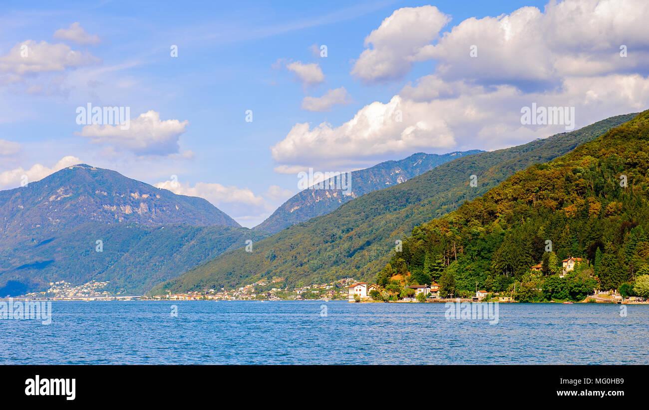 Lake of Lugano, beautiful view Stock Photo