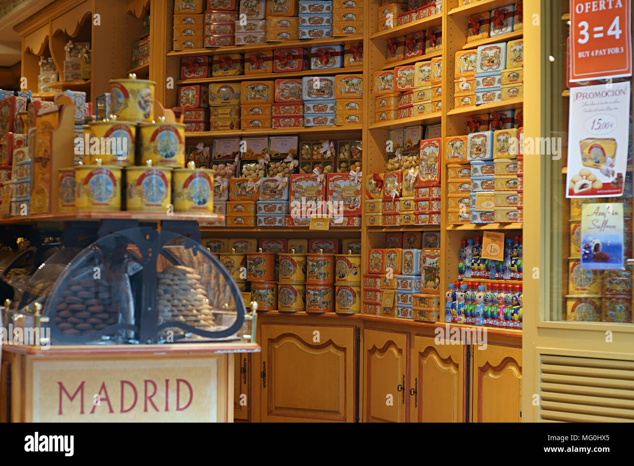 La cure gourmande biscuits store in Madrid, Spain - Stock Image