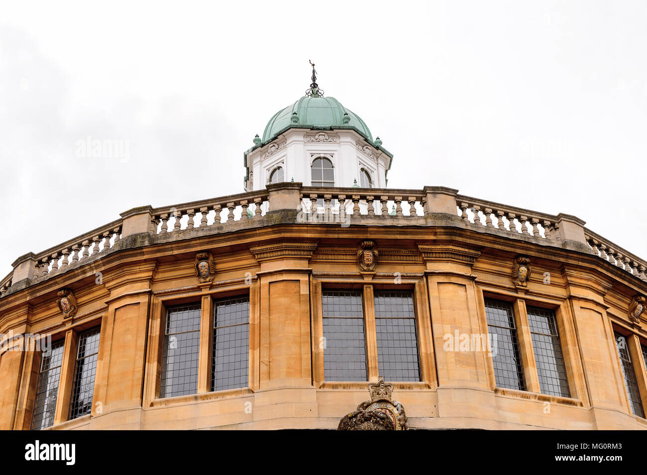 Sheldonian Theatre, Oxford, England. Oxford is known as the home of the University of Oxford Stock Photo
