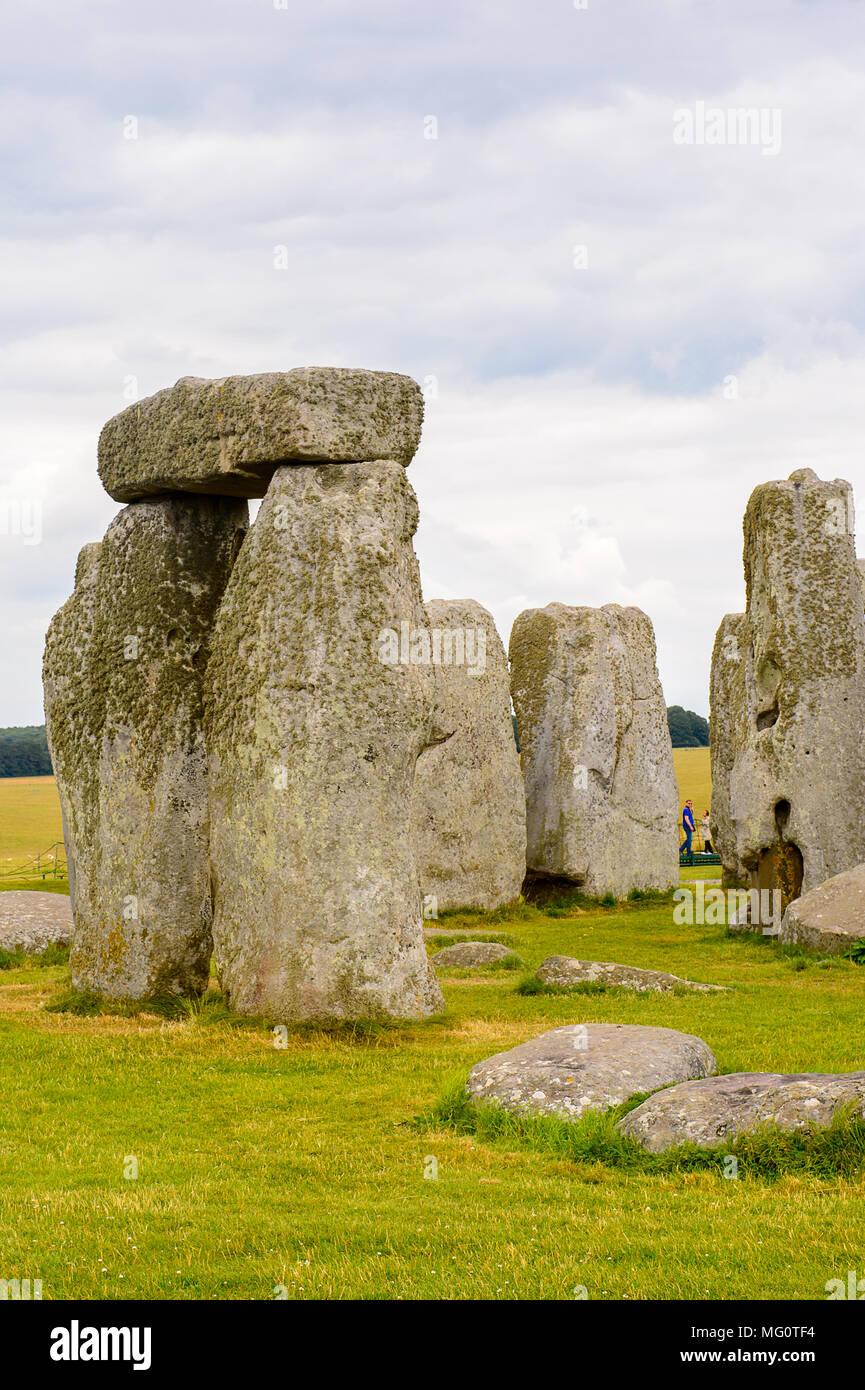 Stonehenge, a prehistoric monument in Wiltshire, England. UNESCO World Heritage Sites - Stock Image