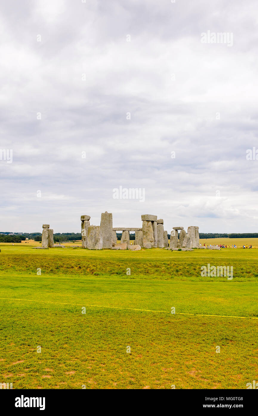 Beautiful view of the Stonehenge, a prehistoric monument in Wiltshire, England. UNESCO World Heritage Sites - Stock Image