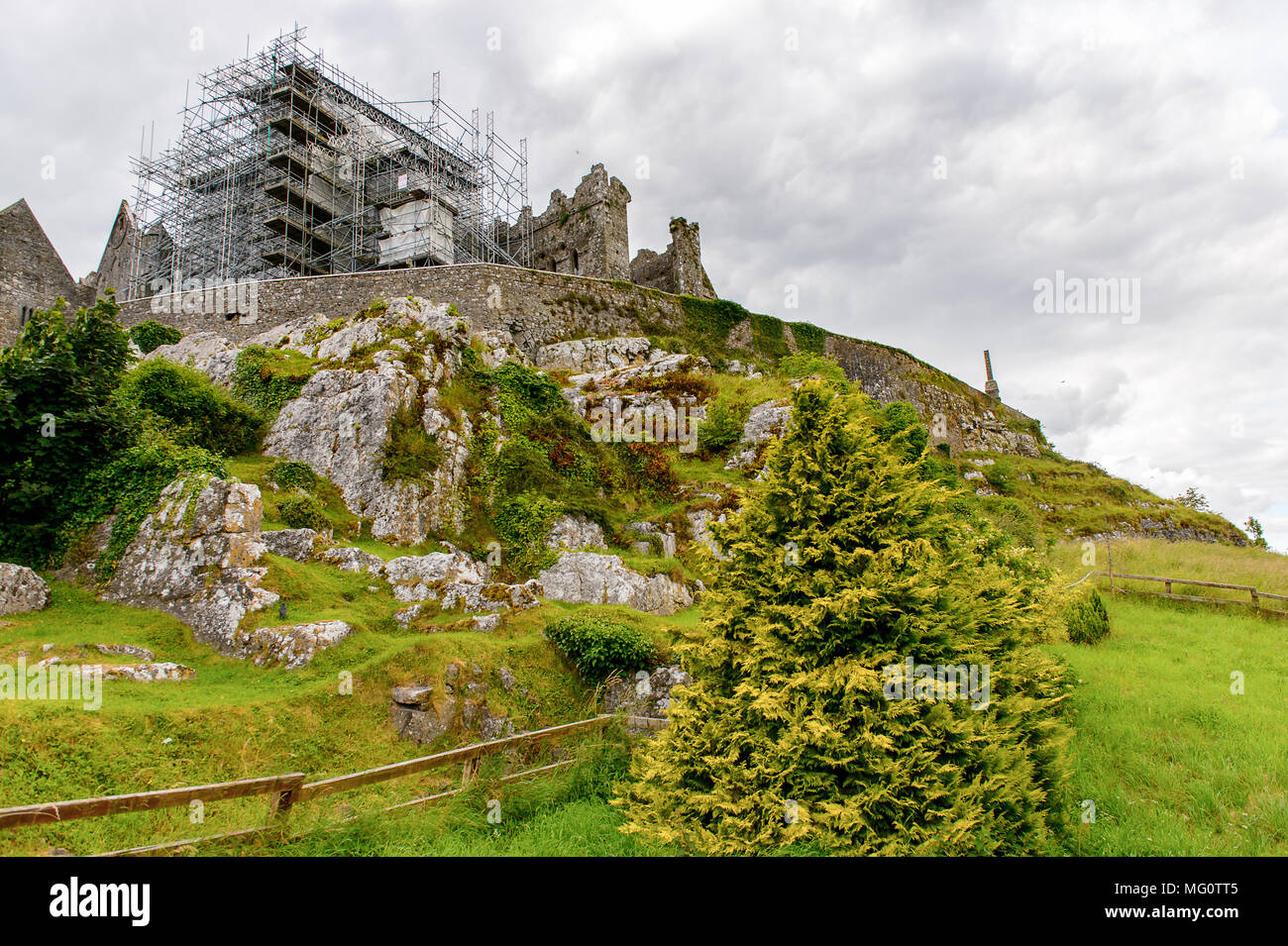 Rock of Cashel Carraig Phadraig), Cashel of the Kings and St. Patrick's Rock, is a historic site at  County Tipperary, Ireland - Stock Image