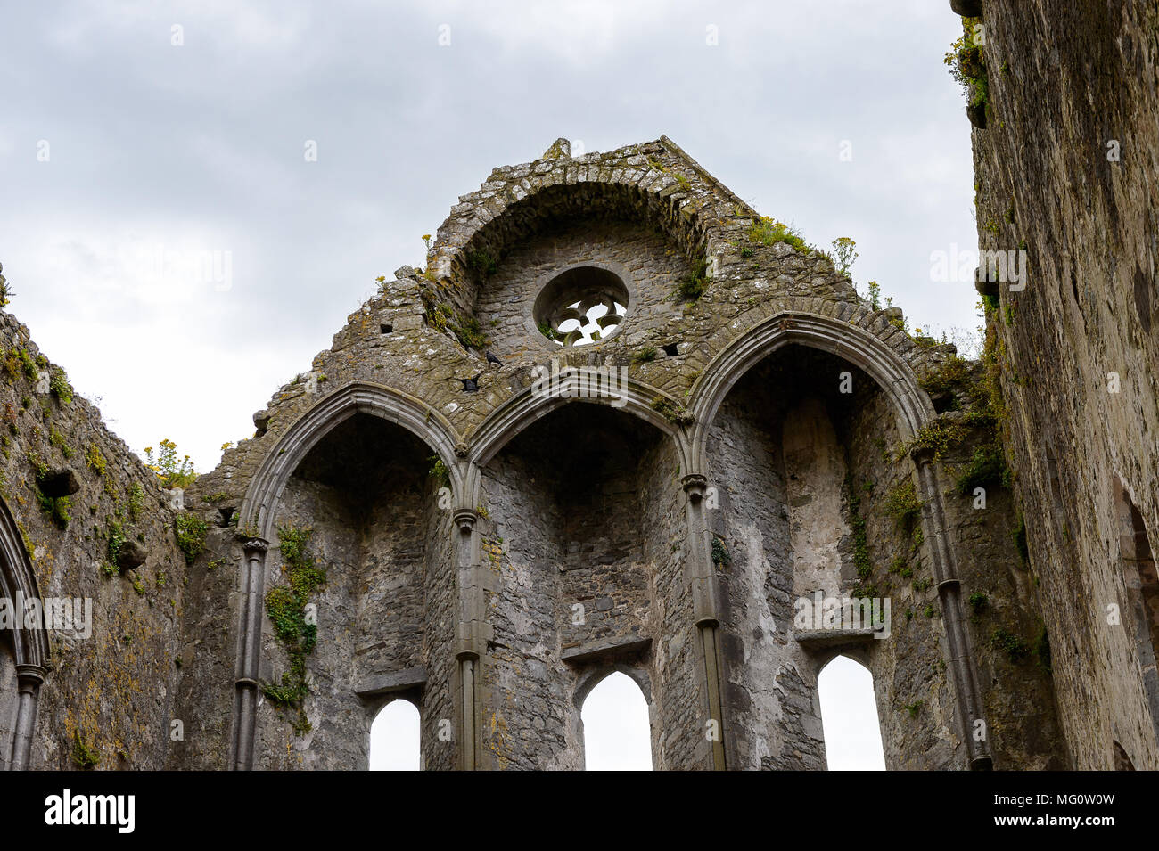 Chapel of King Cormac Mac Carthaigh on the Rock of Cashel (Carraig Phadraig), Cashel of the Kings and St. Patrick's Rock - Stock Image