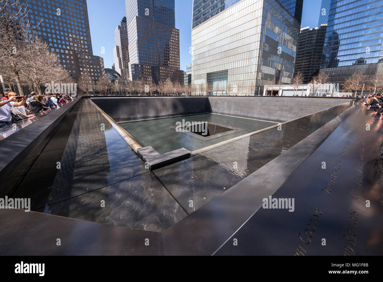 WTC Memorial and Freedom Tower - Stock Image