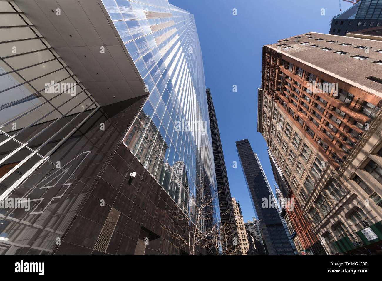 Four World Trade Center in lower Manhattan, New York, NY - Stock Image