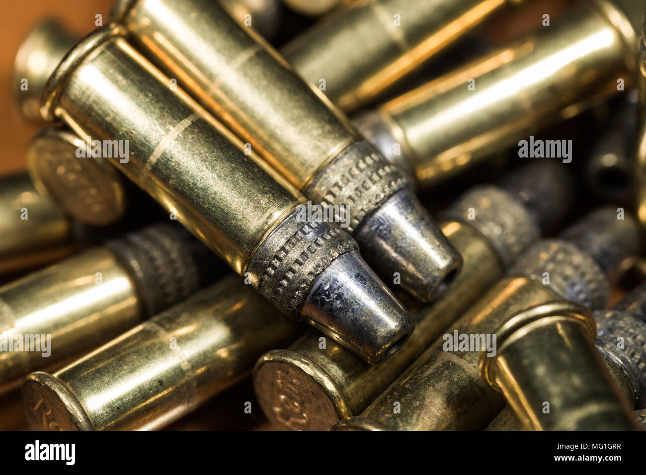 Truncated Cone 22LR Bullets - Stock Image
