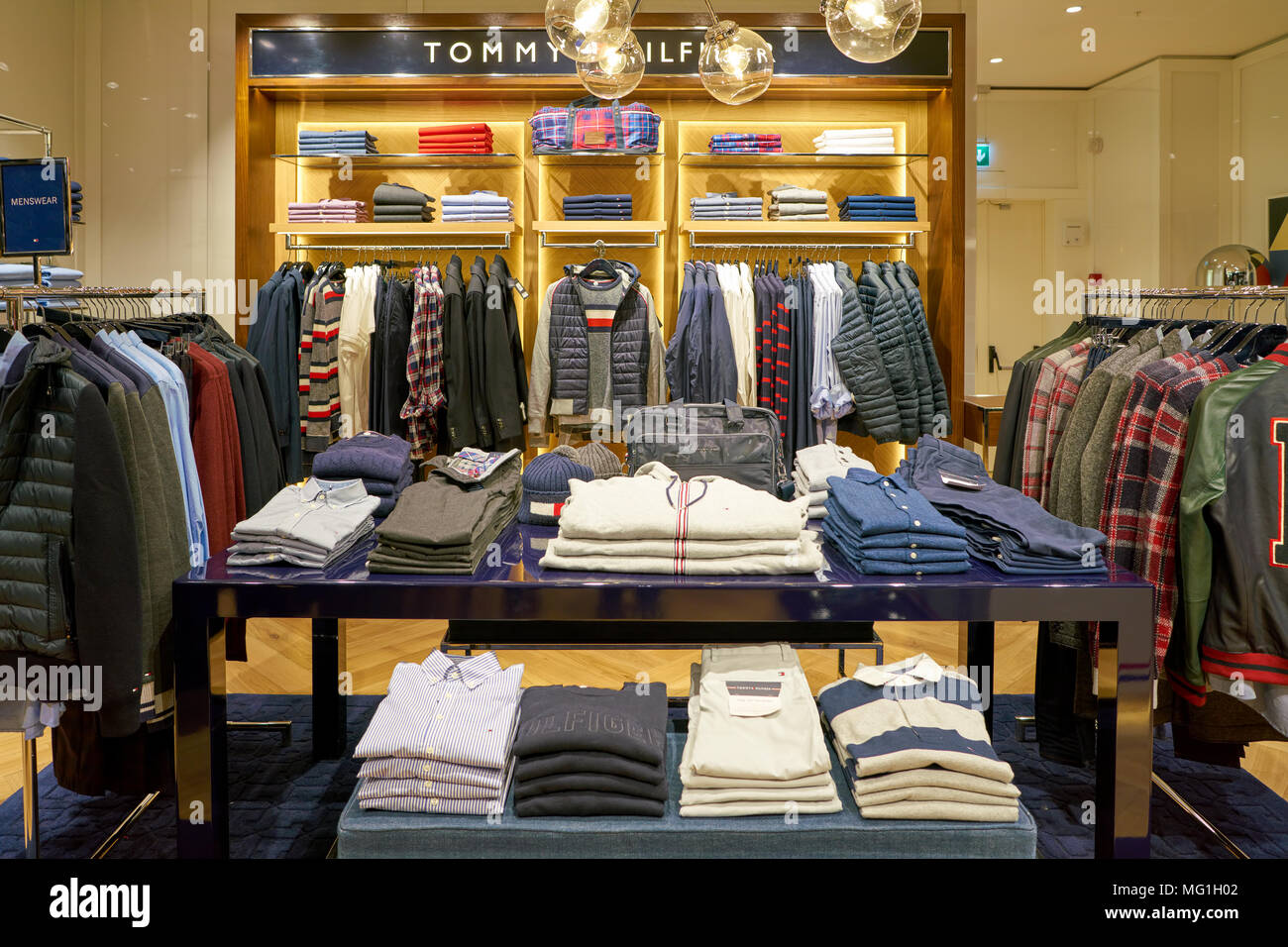 ca514e6e0c1cbb Tommy Hilfiger Flagship Store Interior Stock Photos   Tommy Hilfiger ...