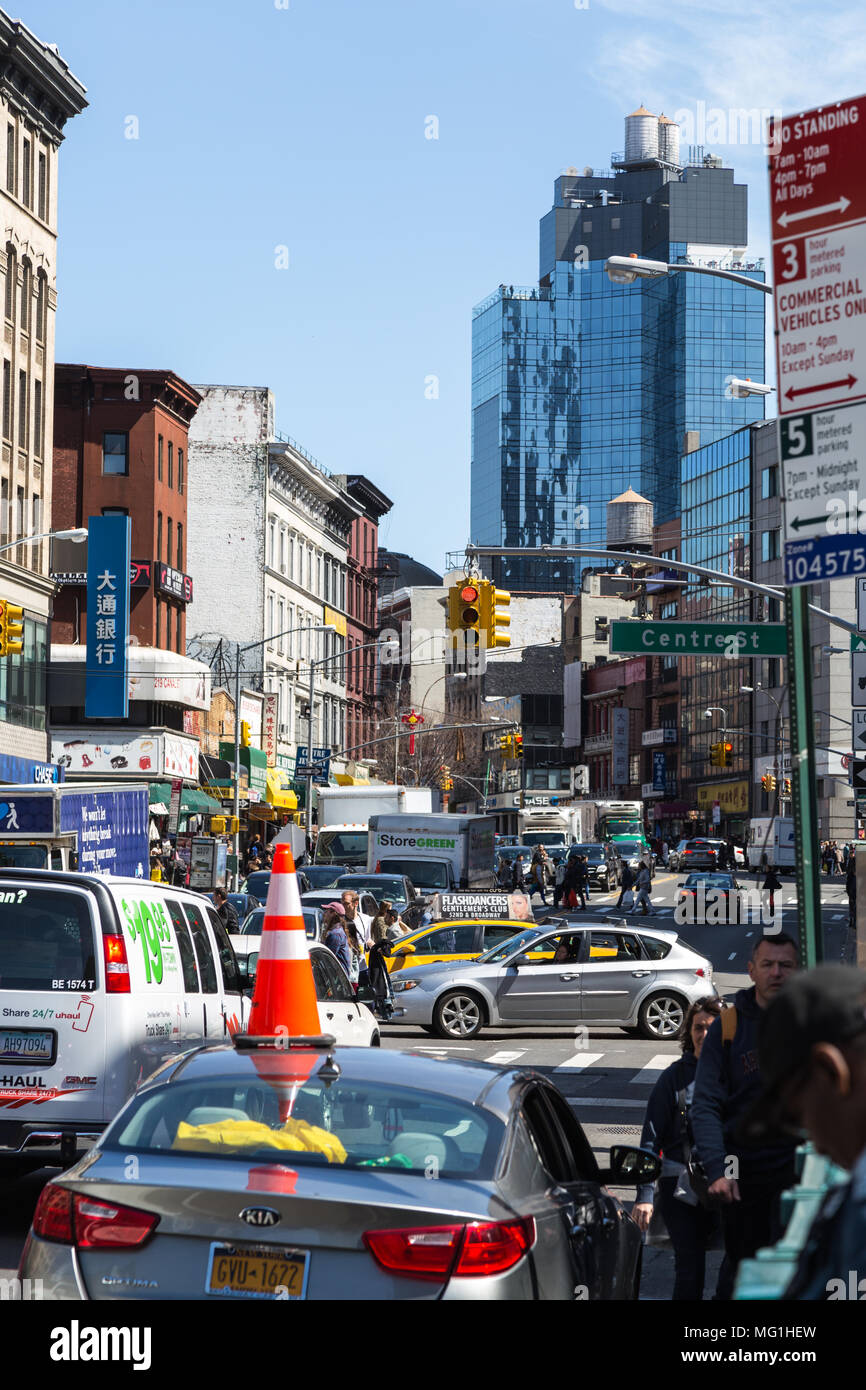 Busy Canal St, Manhattan - New York City - Stock Image