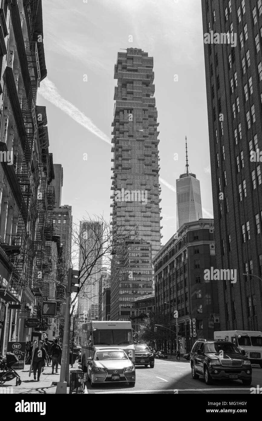 56 Leonard - Condominium Complex in Lower Manhattan NYC - Stock Image