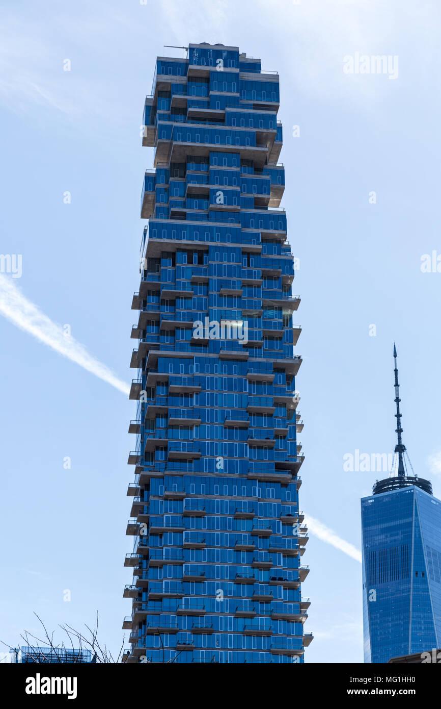 56 Leonard - Condominium Complex in Lower Manhattan NYC - Stock Image