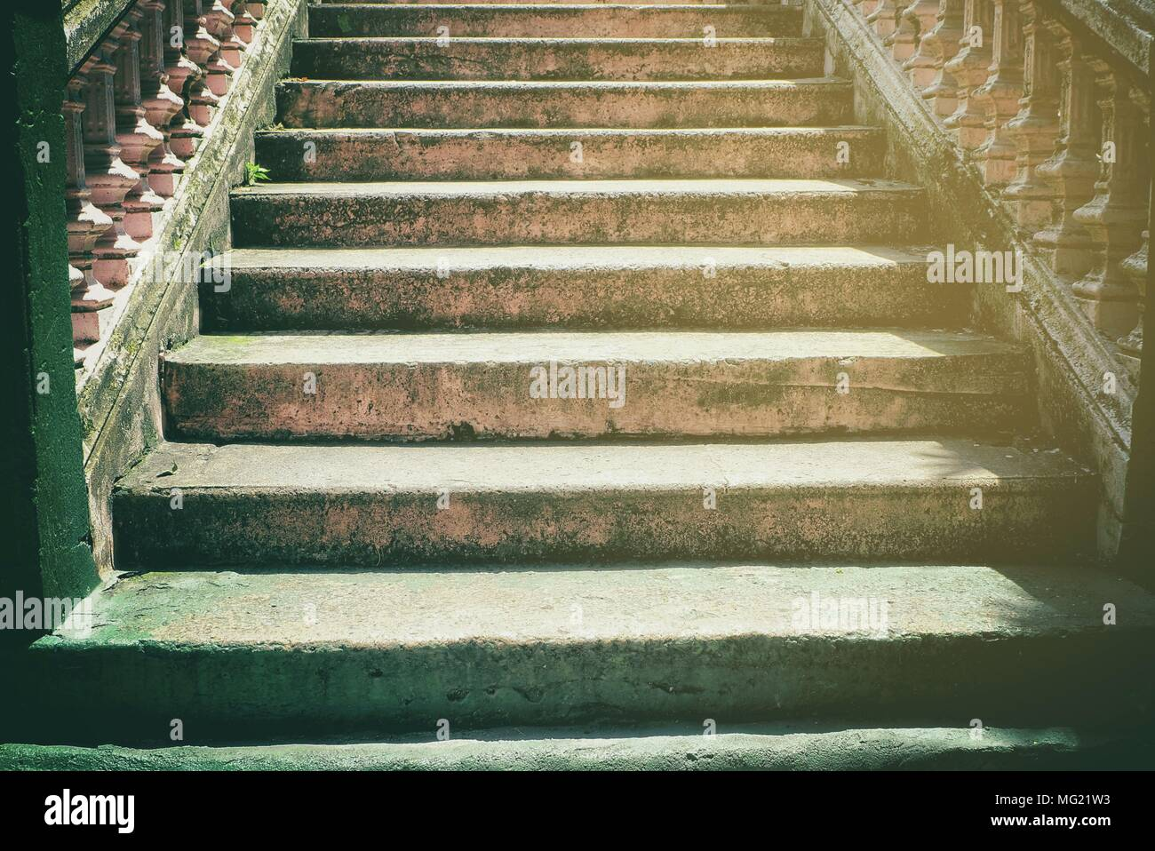 High Quality Old Stone Stair Background.