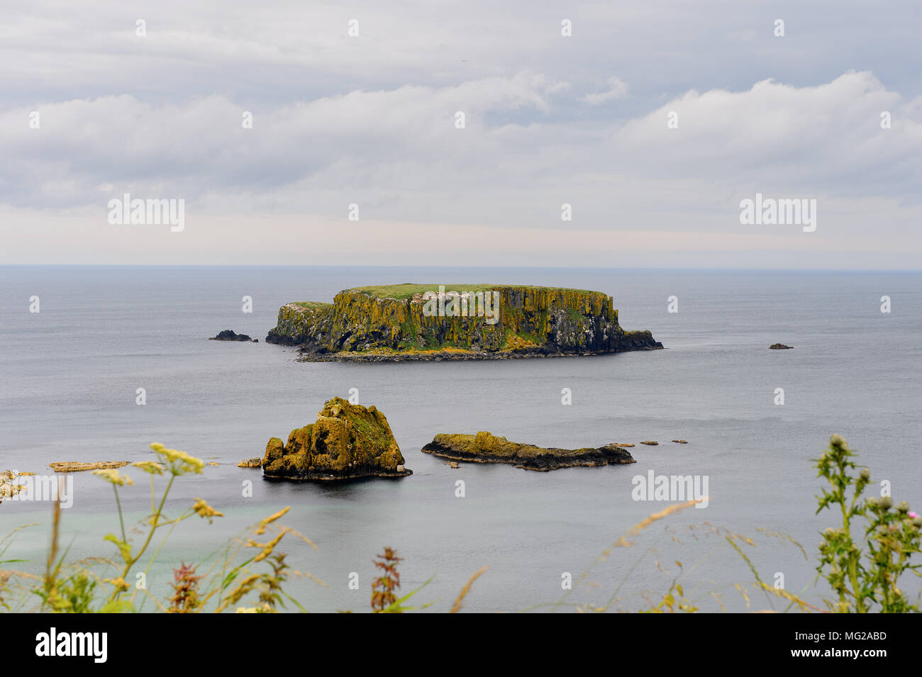 Carrick-a-Rede, Causeway Coast Route, National Trust. Northern Ireland - Stock Image
