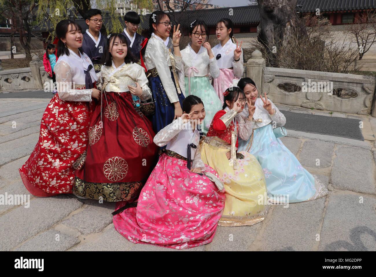 c42ebad756d2f Traditional Hanbok Clothing Stock Photos & Traditional Hanbok ...