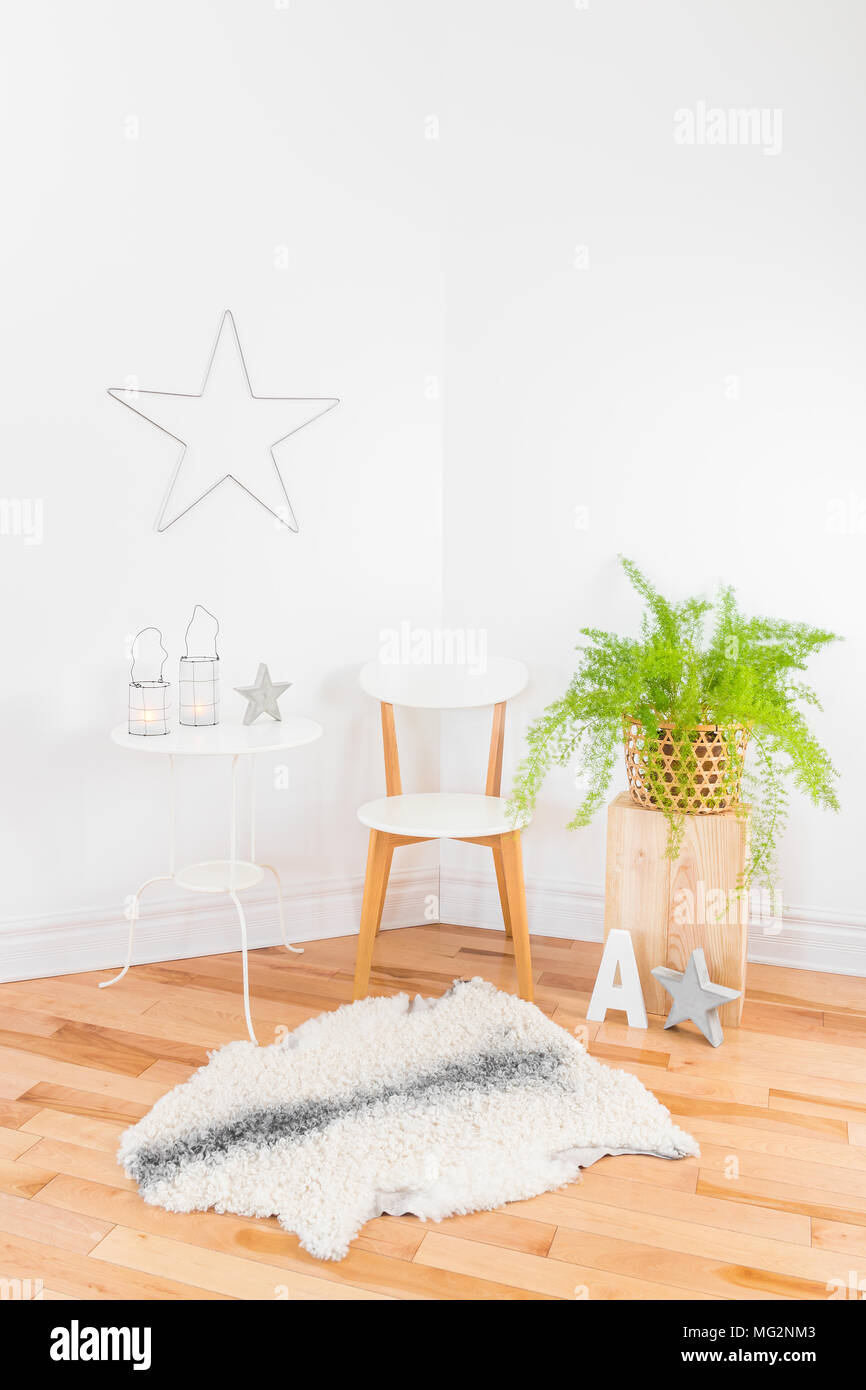 Bright And Elegant Modern Home Decor With Green Plant Natural Materials