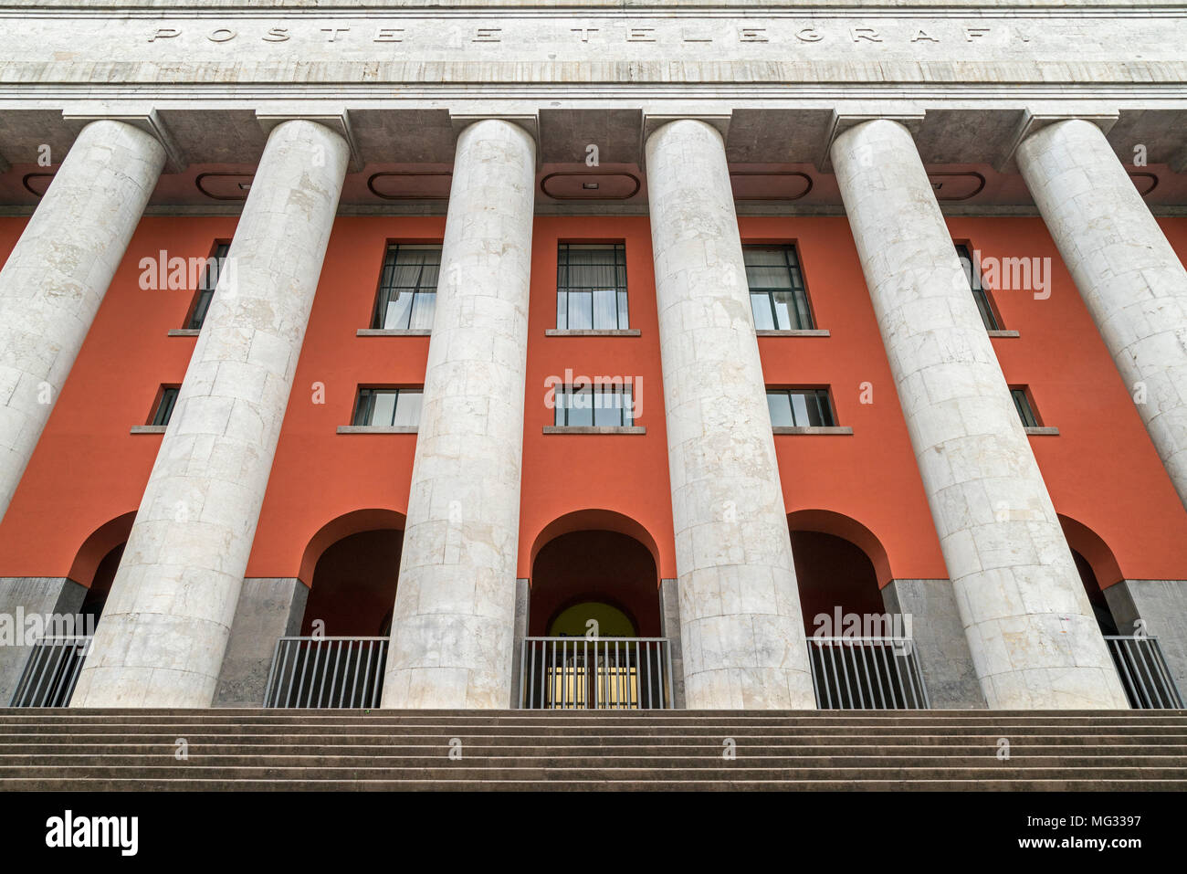The Post office building, Palazzo delle Poste, Palermo, Sicily, Italy. Stock Photo