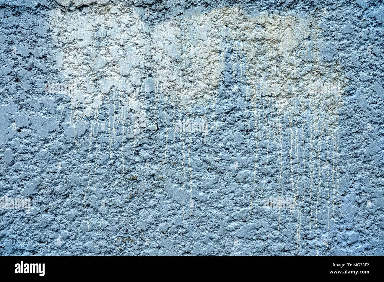 White Stain Of Spray Paint On Concrete Wall Background Stock