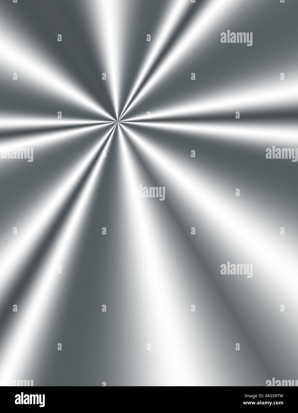 Ray of light reflected on metal plate - Stock Image