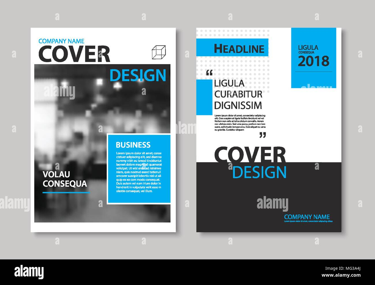 Blue Cover Cookbook ~ Annual report cover stock photos