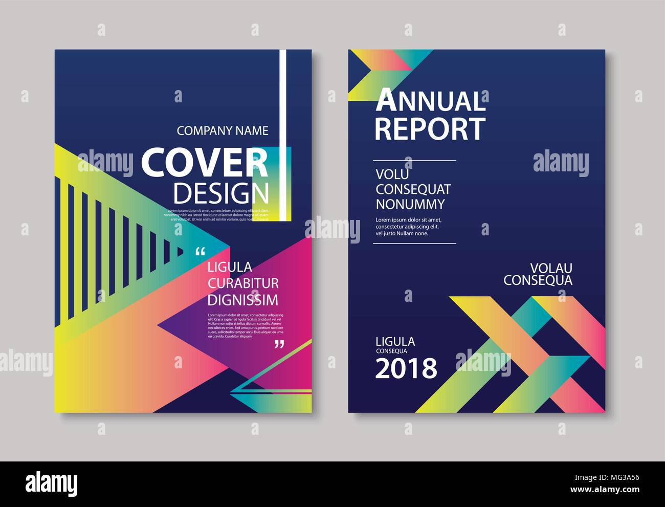 Modern Book Cover Posters ~ Abstract gradient modern geometric flyer and poster design