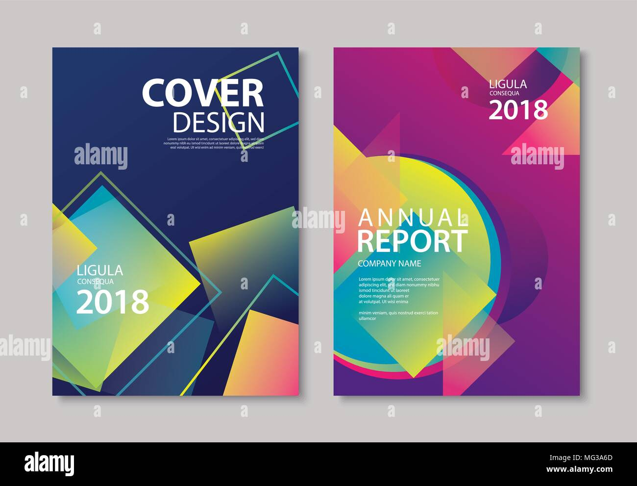 Modern Book Cover Posters : Abstract gradient modern geometric flyer and poster design
