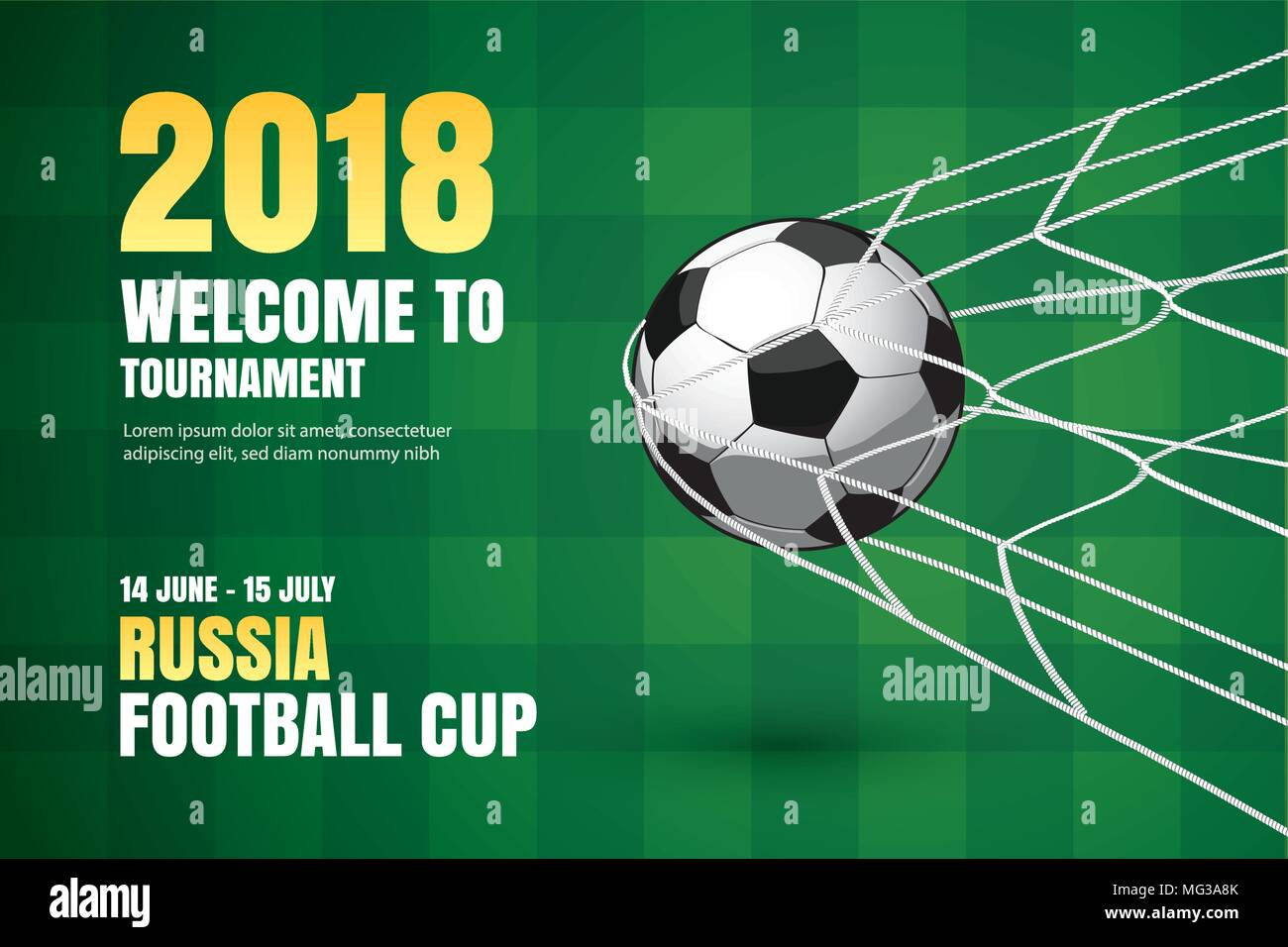 Football 2018 World Championship Background Of Soccer Sport Design Use For Web Banner Ads Poster Brochure Flyer Cover Cards Invitations Stock Vector Image Art Alamy