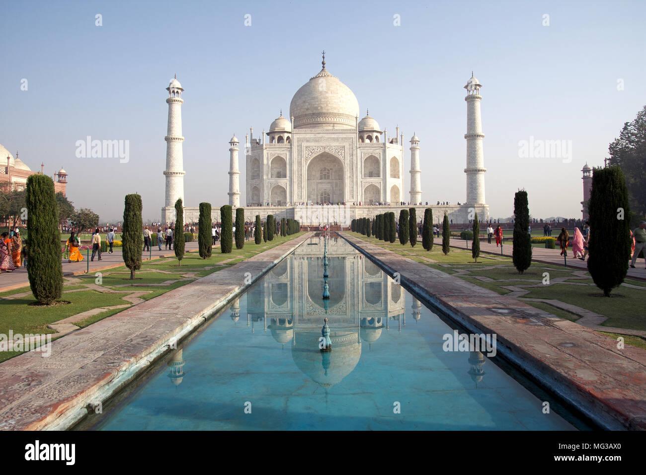 Taj Mahal in Agra, India - Stock Image