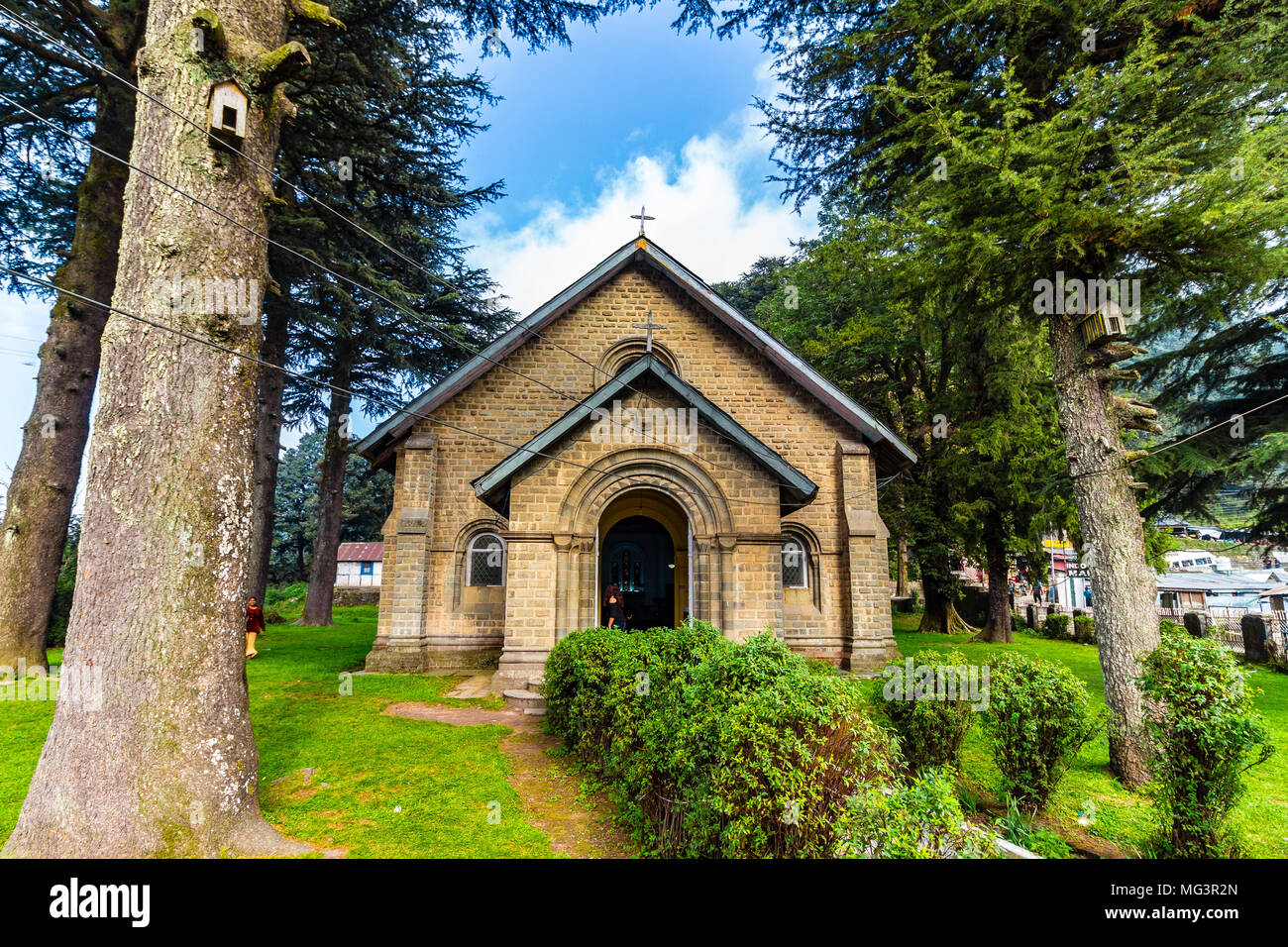 St. John's Church in Dalhousie, Himachal Pradesh, India, Asia. - Stock Image