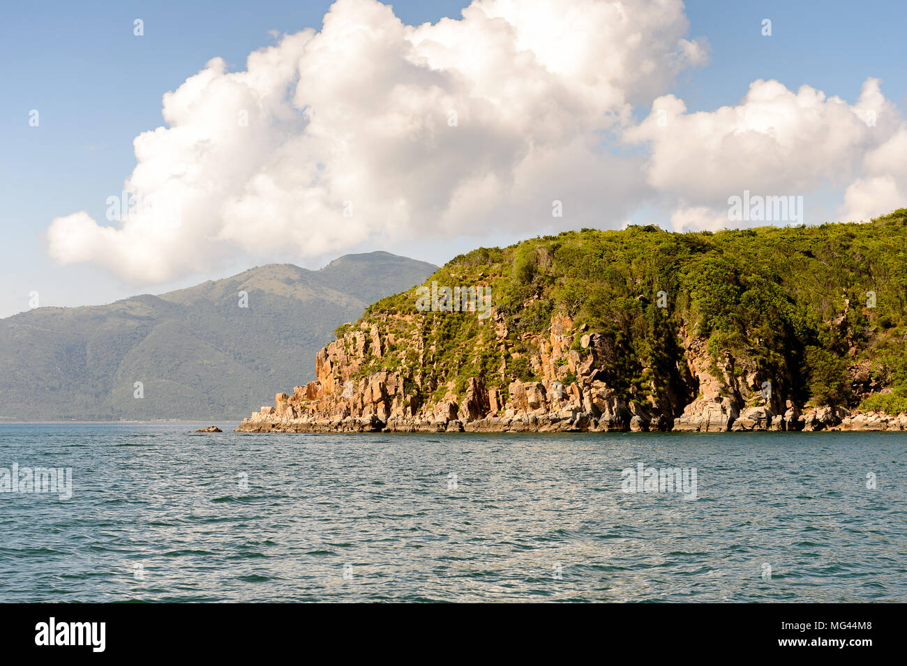 One of the islands near Nha Trang in the South China Sea in Vietnam - Stock Image