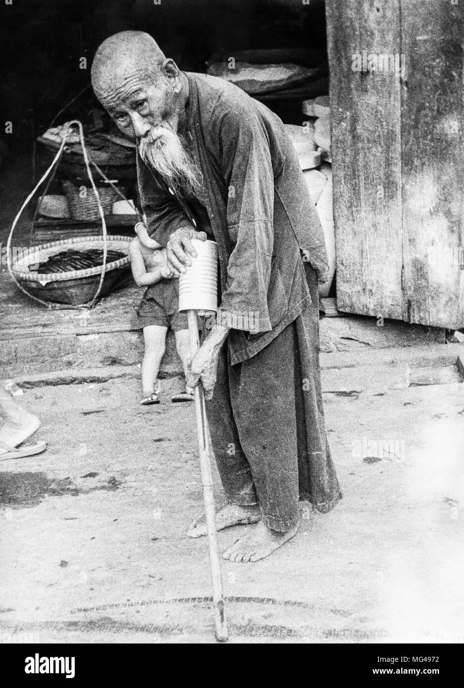 Chinese man, bangkok, thailand, 70s - Stock Image