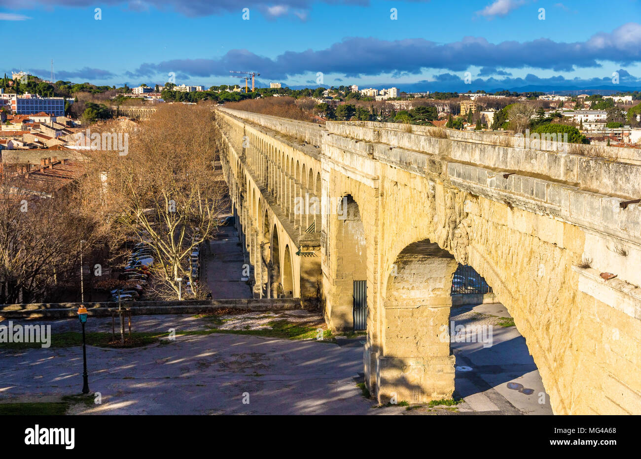 Saint Clement Aqueduct in Montpellier, France Stock Photo