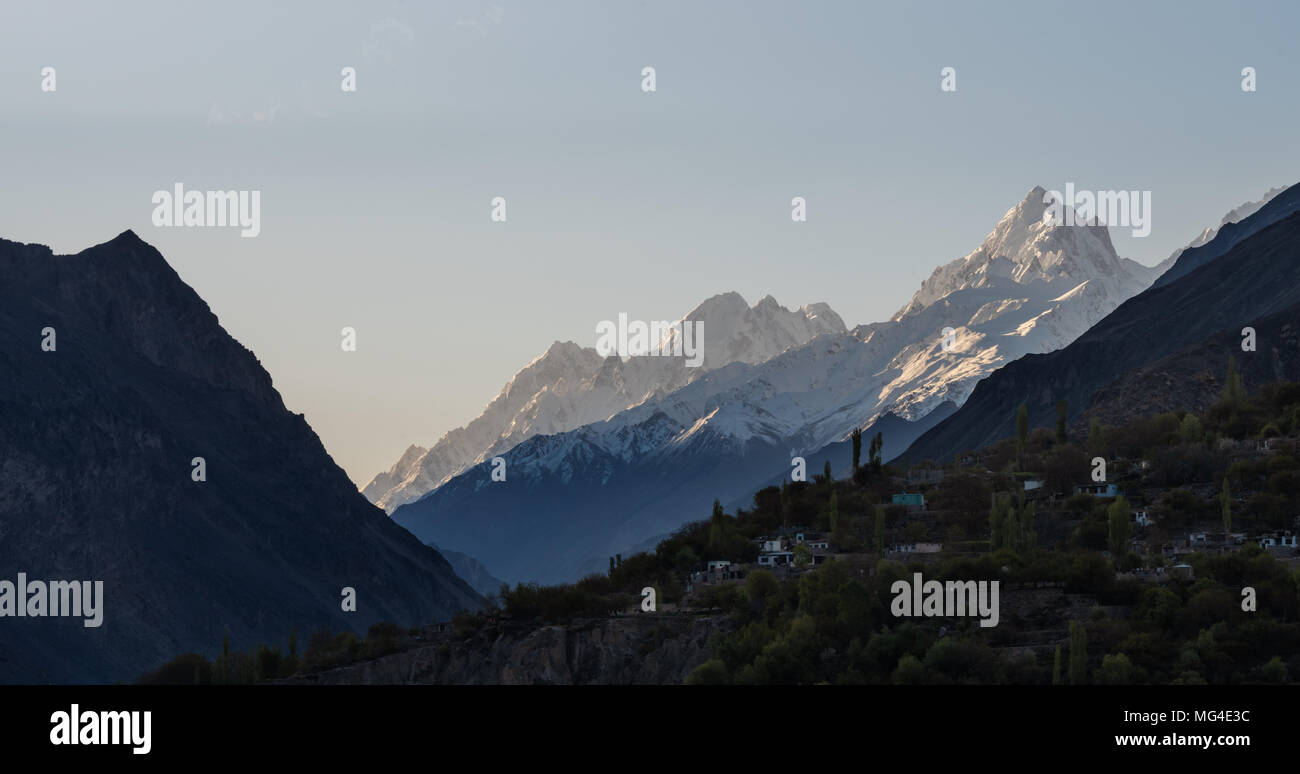 Mountain landscape, Hunza valley in Pakistan - Stock Image