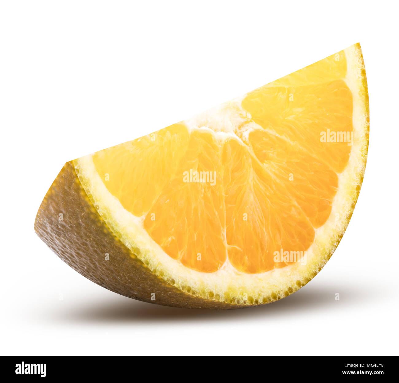 Fresh blood dark orange isolated on white background with clipping path - Stock Image
