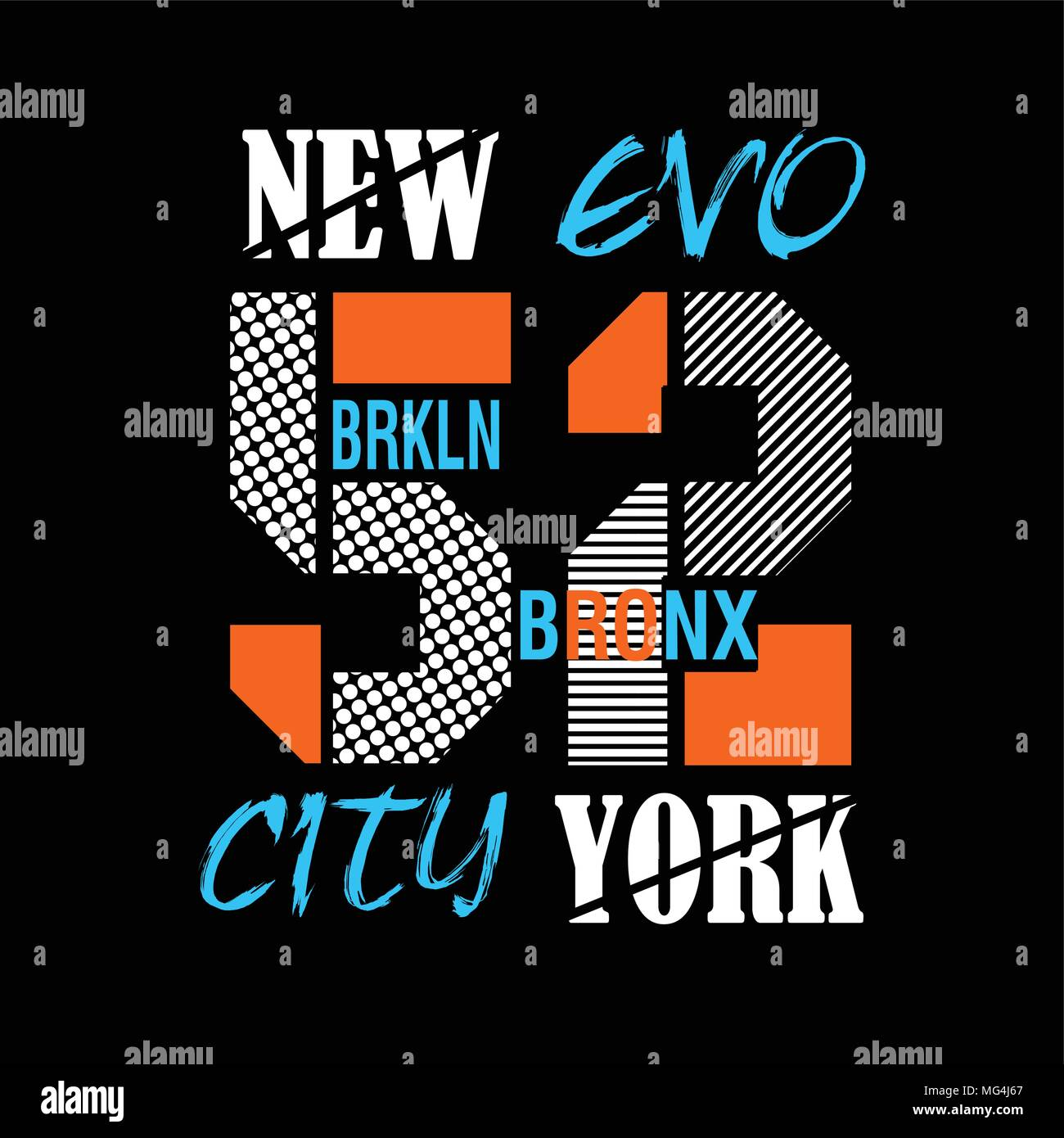 50830438 new york brooklyn typography t shirt printing vector Stock Vector ...