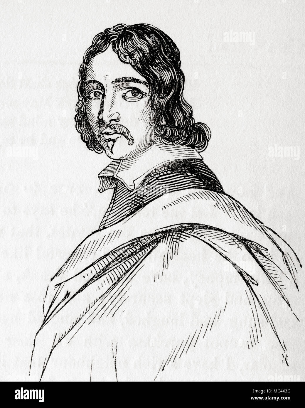 Francis Moore, 1657 – 1715.  British physician and astrologer.  From Old England: A Pictorial Museum, published 1847. - Stock Image