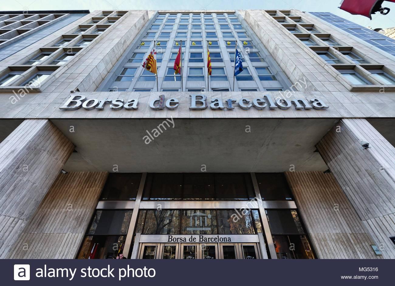 Barcelona Stock Exchange - Stock Image