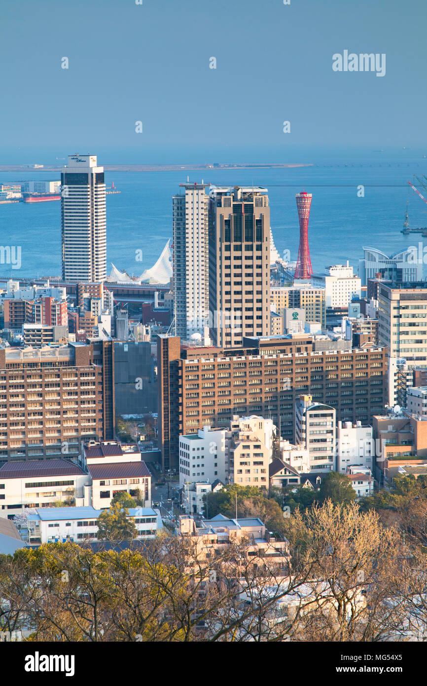 View of Kobe skyline, Kobe, Kansai, Japan - Stock Image