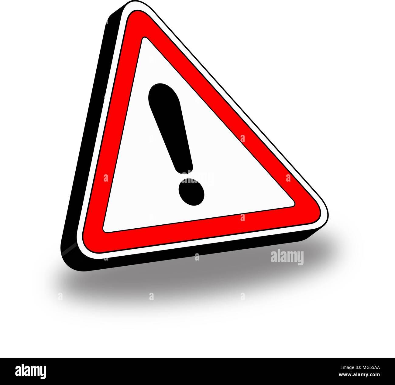 3d Hazard Symbol Triangle Icon Stock Vector Art Illustration