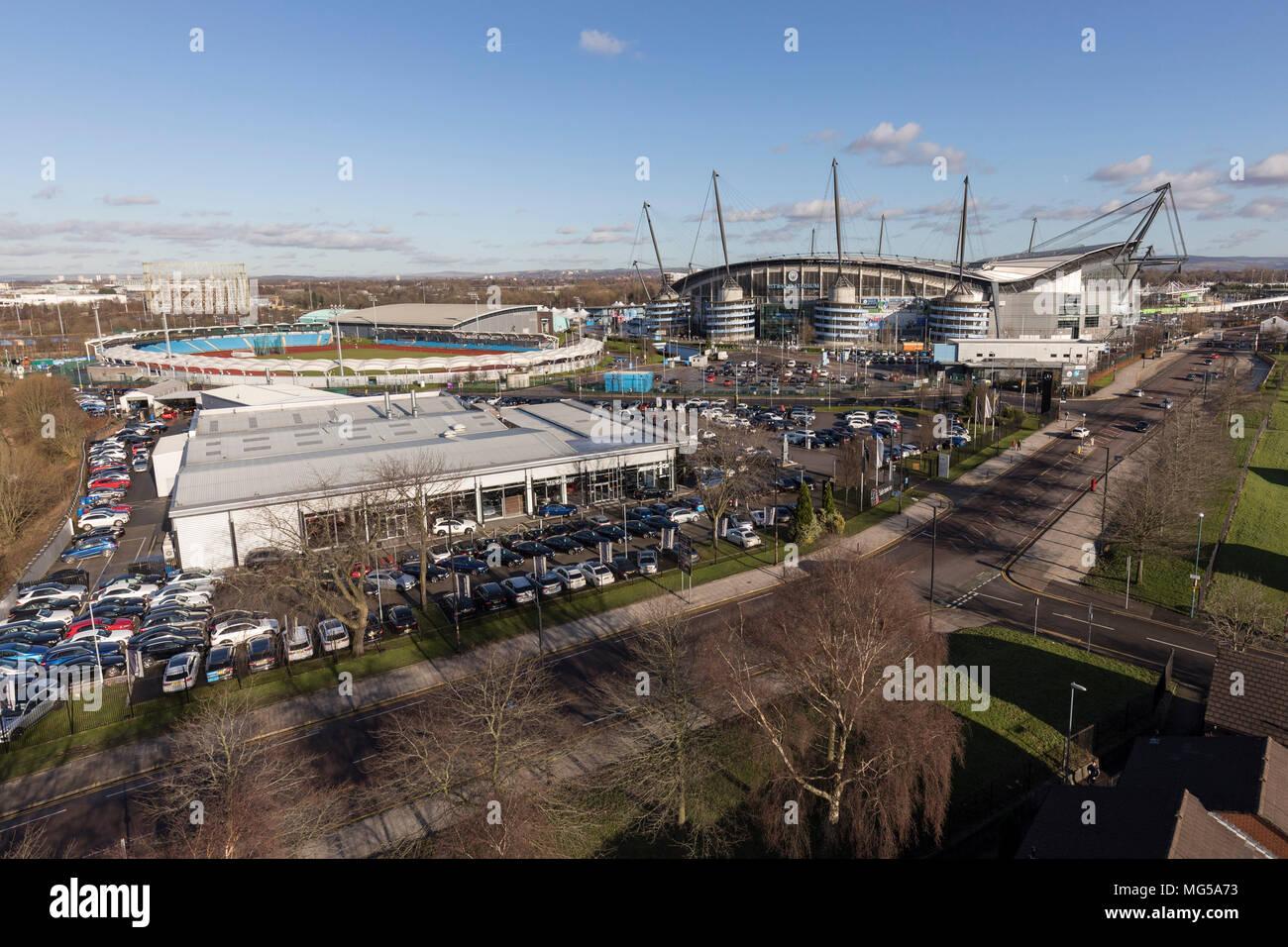 Manchester City Etihad Stadium - Stock Image
