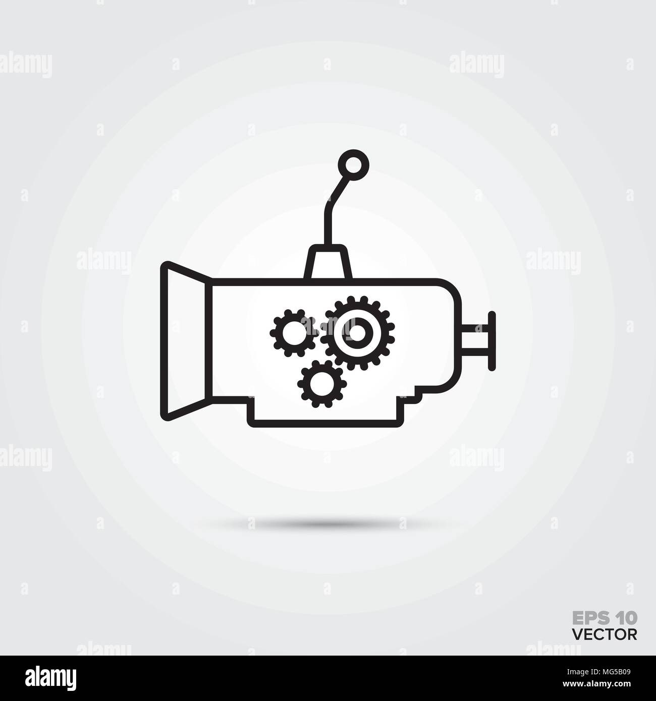 Car Gearbox Vector Line Icon Automotive Parts Repair And Service Symbol Stock Vector Image Art Alamy