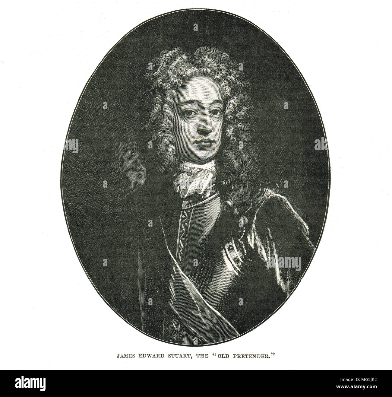James Francis Edward Stuart, the old pretender - Stock Image