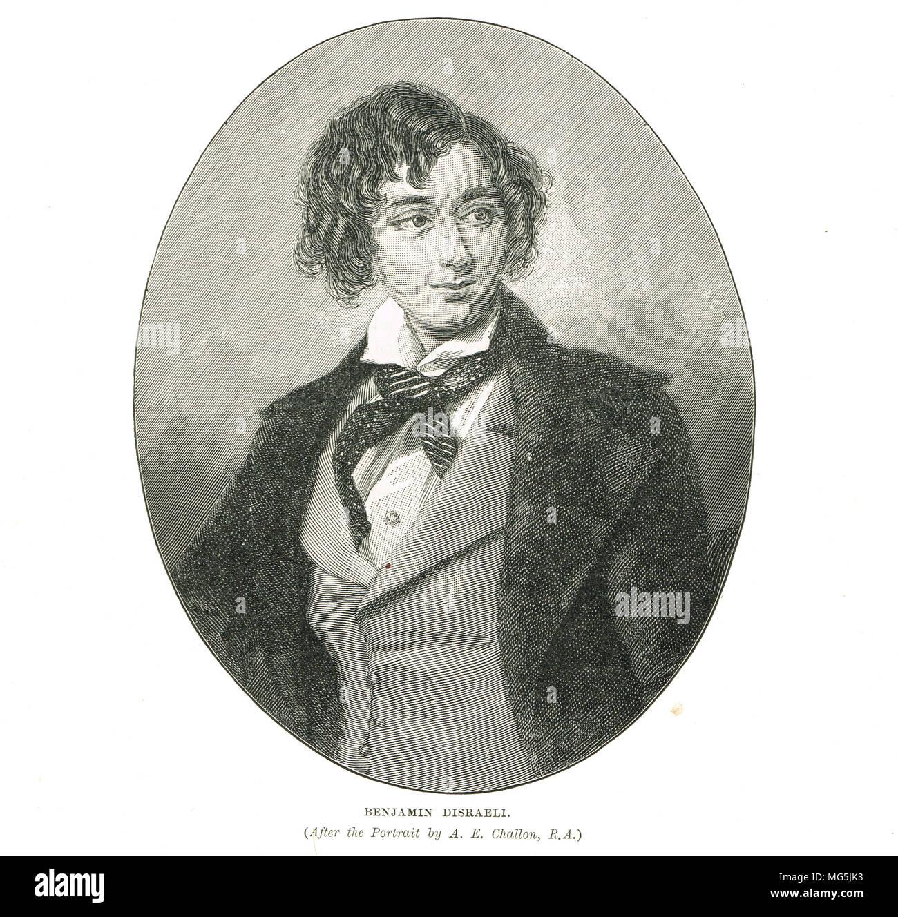 Benjamin Disraeli as a young man Stock Photo