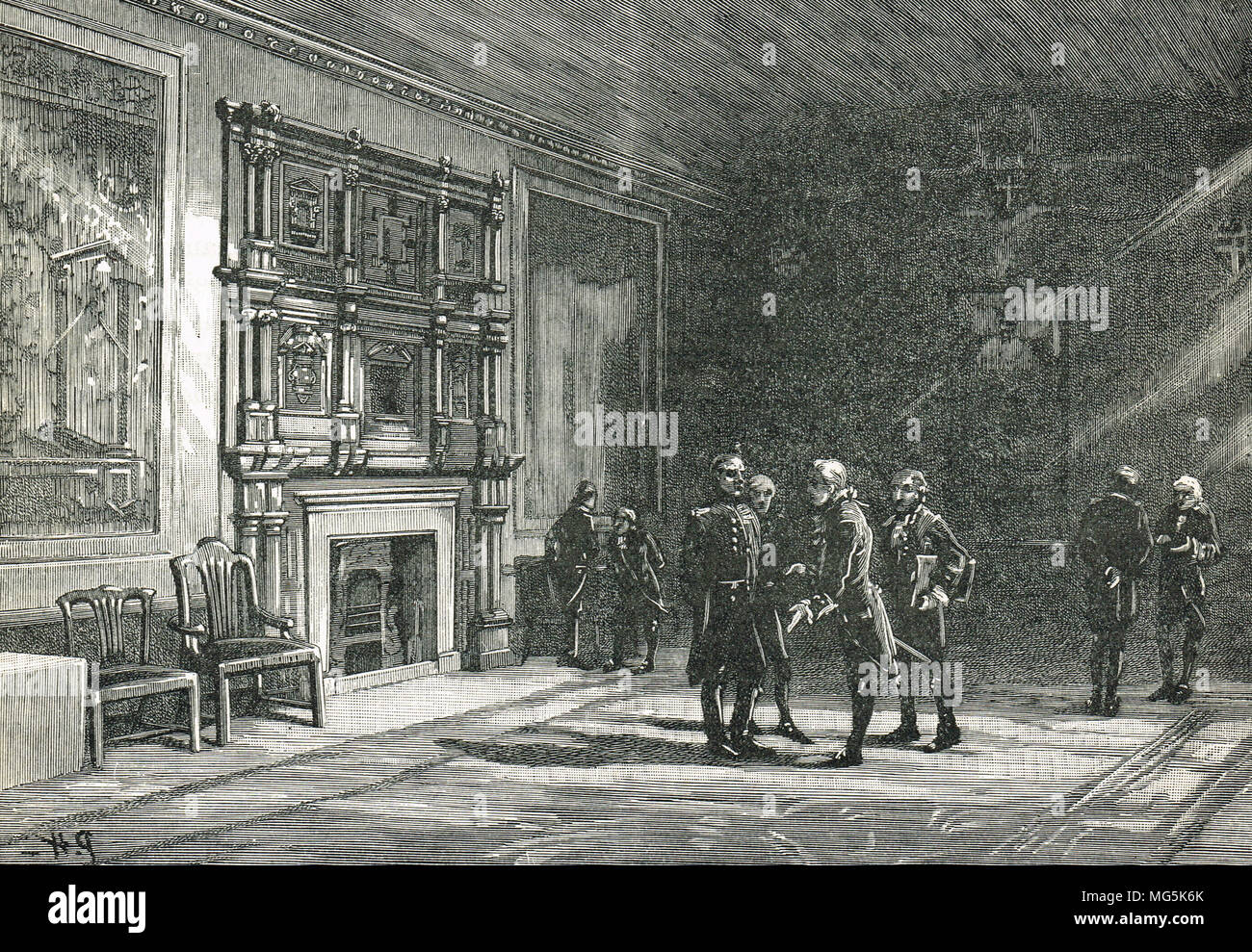 The Jerusalem Chamber, Westminster Abbey, London England - Stock Image