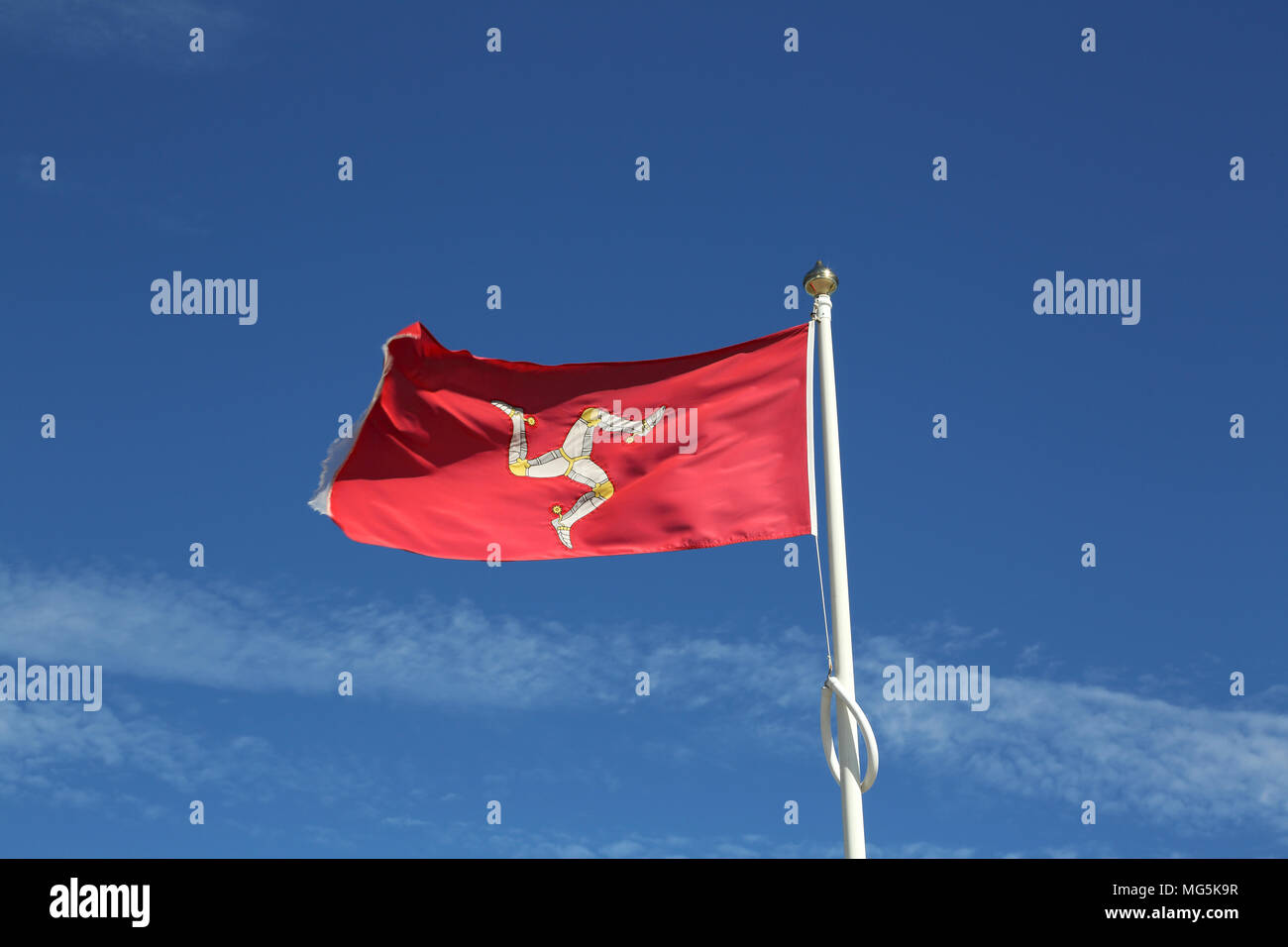 isle of man flag Stock Photo