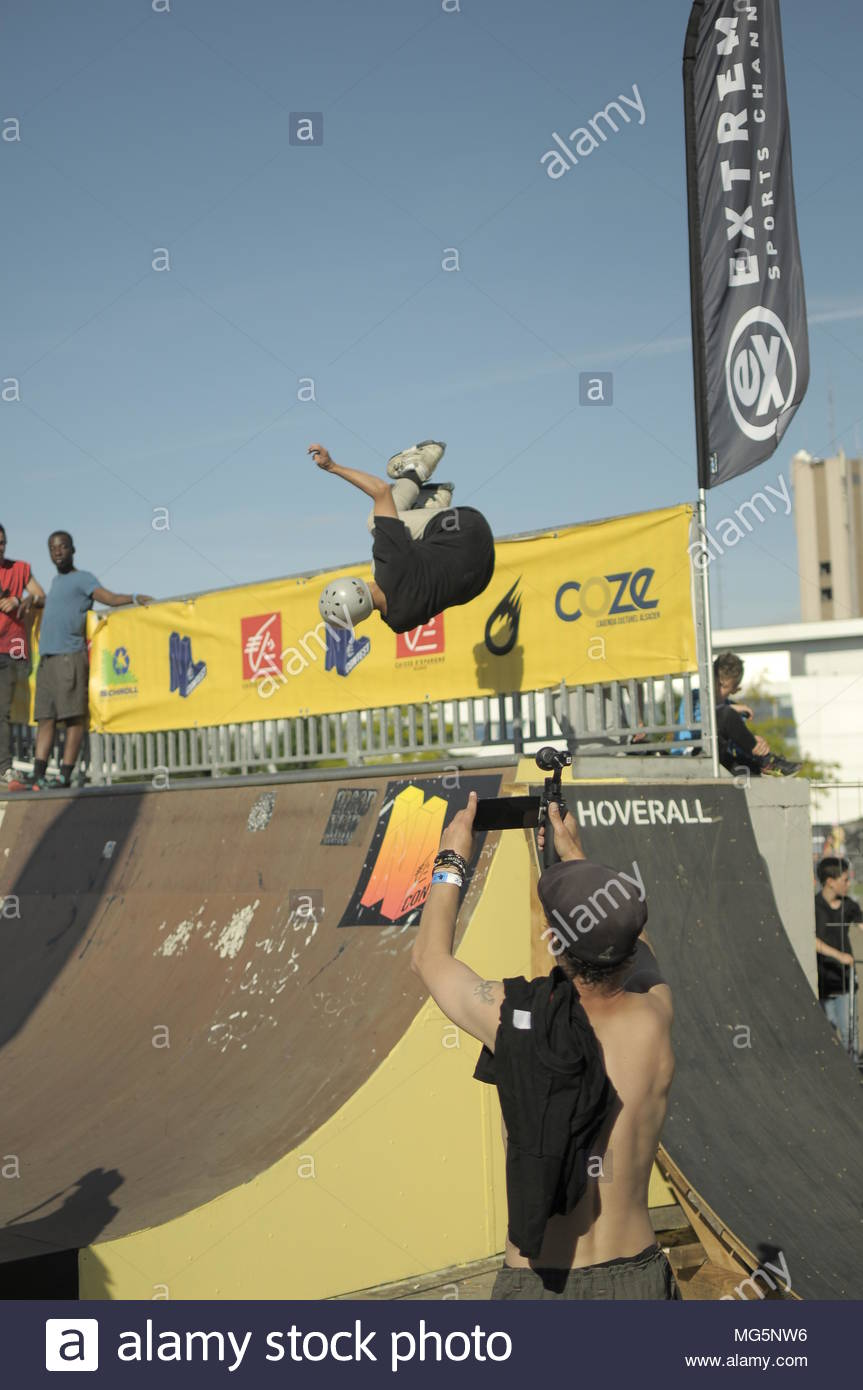 Urban sports contest - Compétition de sports urbains - Stock Image