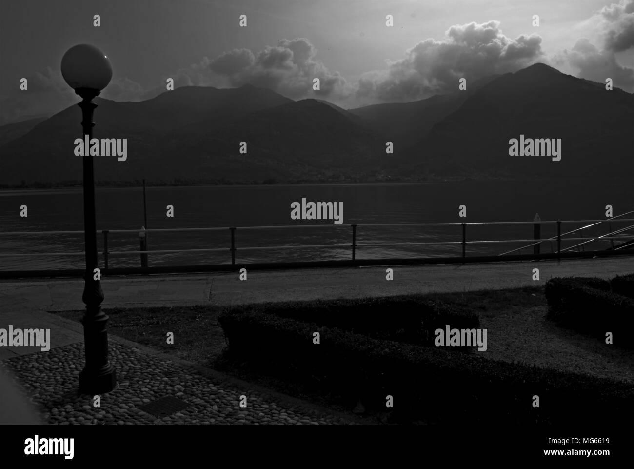 Lake Iseo Italy - Stock Image