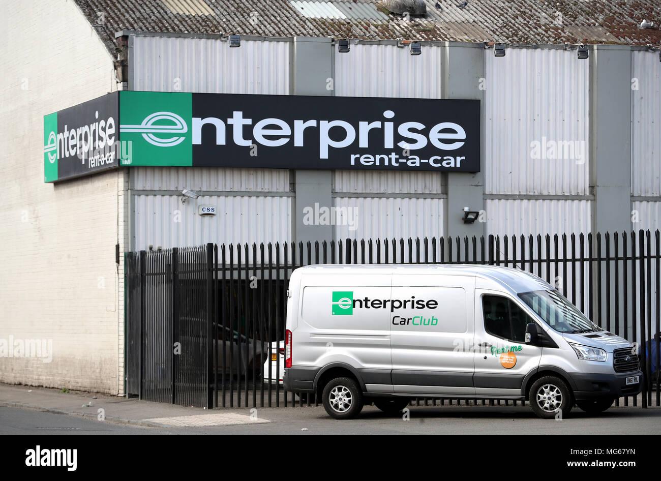 Enterprise Van Rental >> Embargoed To 0001 Saturday April 28 A General View Of The