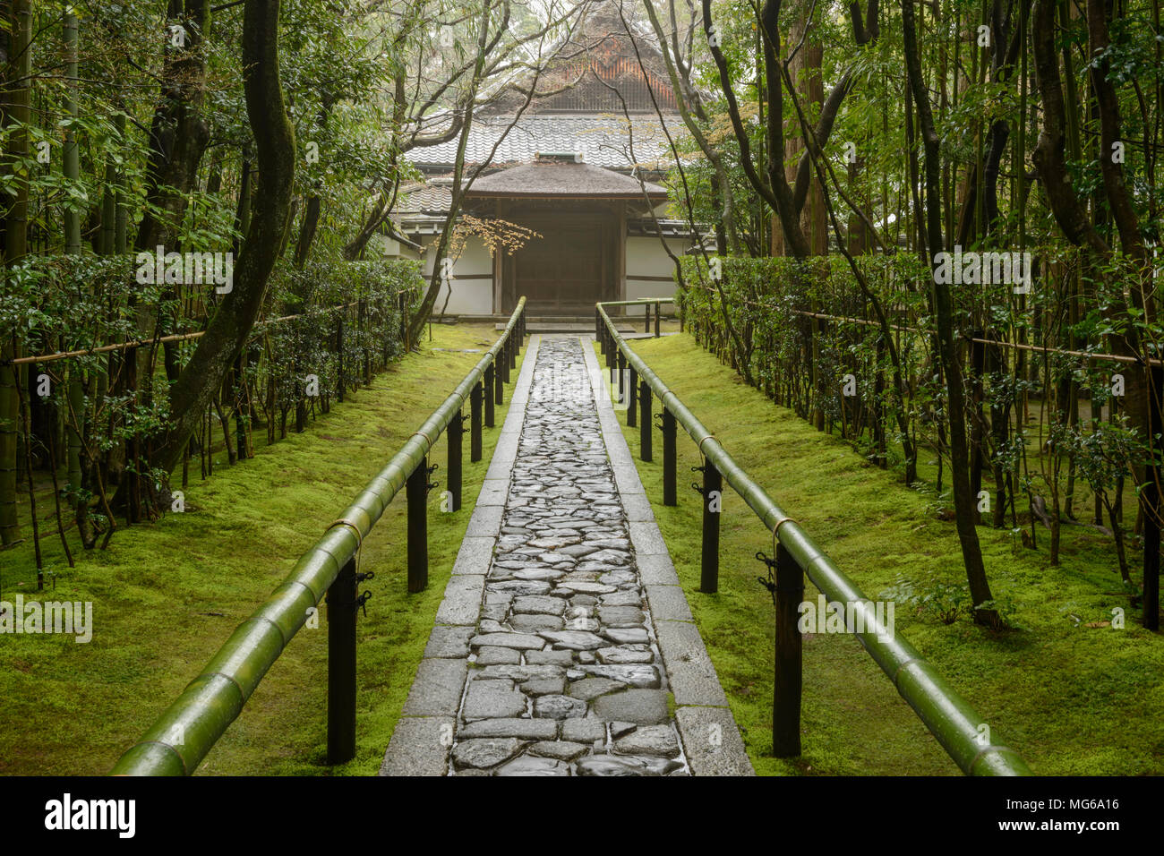 The entrance to Koto-in Subtemple, part of the Daitoku-ji Temple, in Kyoto, Japan. - Stock Image