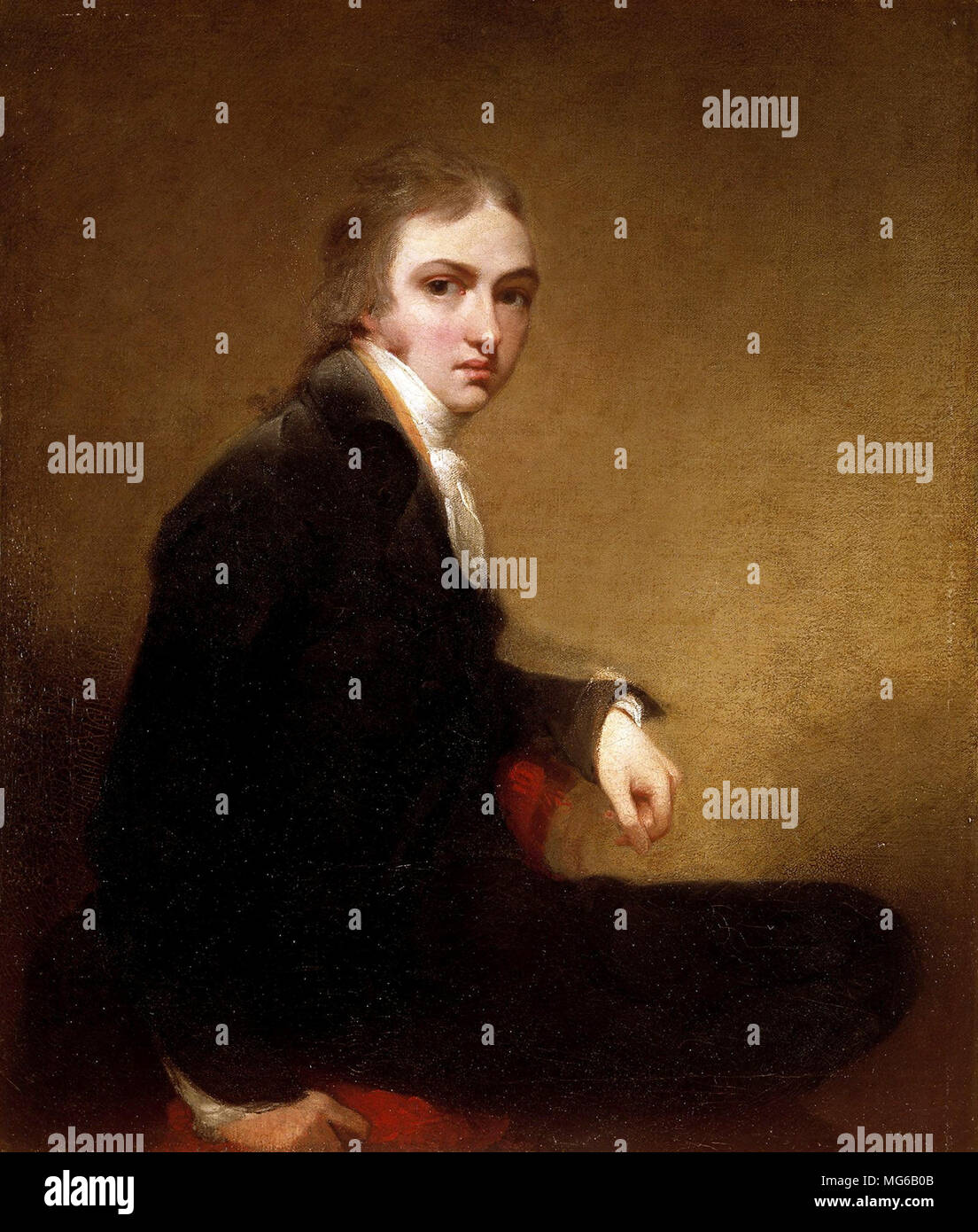 Sir Thomas Lawrence, self-portrait, 1788. Sir Thomas Lawrence (1769 – 1830) English portrait painter - Stock Image