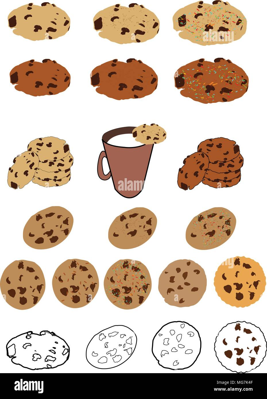Christmas Cookie Clipart.Cookie Chocolate Chip Christmas Svg Svg Cookie Svg